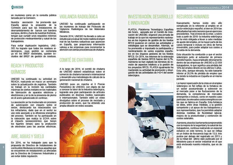 Diseño Maquetación emeye catálogo UNESID industria