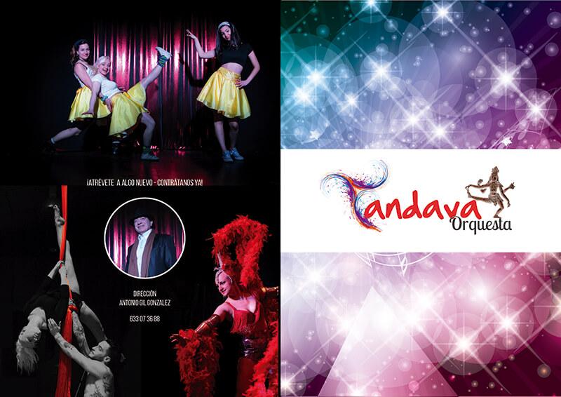 Diseño gráfico de catálogo para Orquesta Tandava Portada
