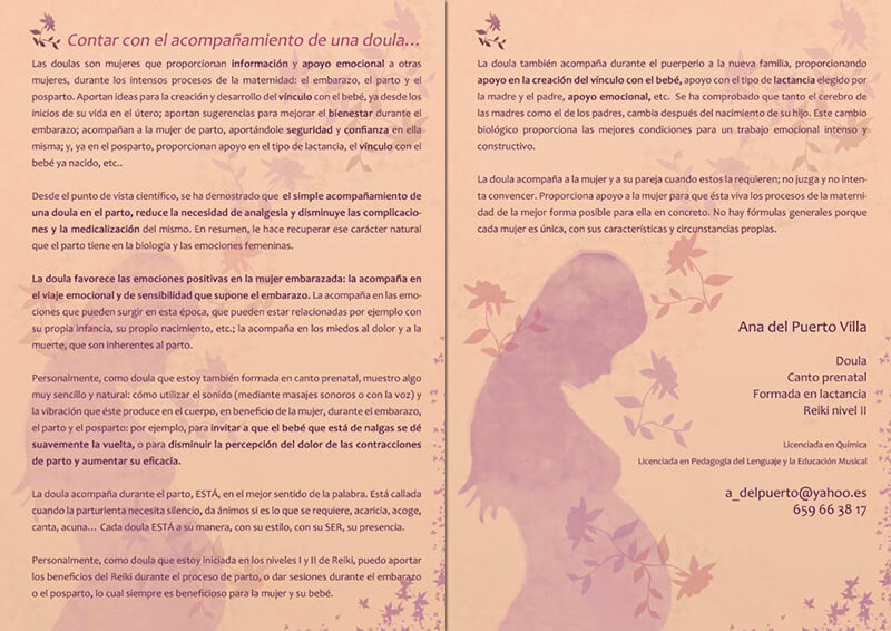 Diseño gráfico emeye maquetacion folleto doulas