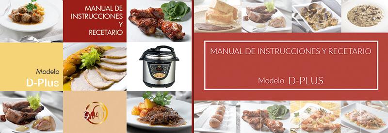 Diseño gráfico maquetación emeye recetario de cocina D-Plus