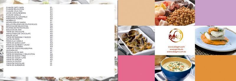 Diseño gráfico maquetación emeye recetario de cocina einnova