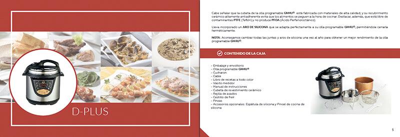 Diseño gráfico maquetación emeye recetario de cocina folletos