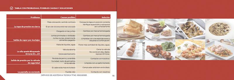 Diseño gráfico maquetación emeye recetario de cocina manual