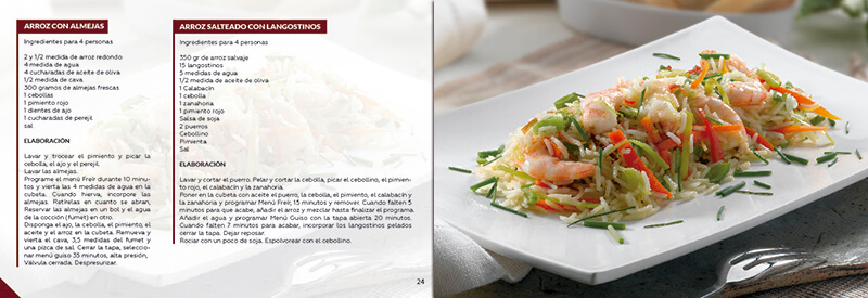 Diseño gráfico maquetación emeye recetario de cocina restaurantes
