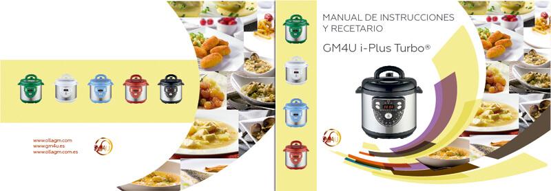 Diseño maquetacion manual de instrucciones recetario GM4U