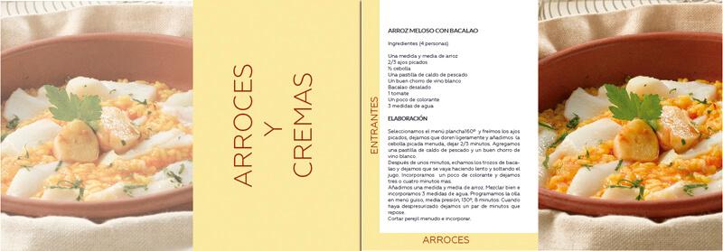 Diseño maquetacion emeye manual de instrucciones recetario olla arroces