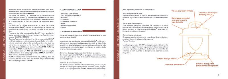 Diseño maquetacion emeye manual de instrucciones recetario olla de cocina