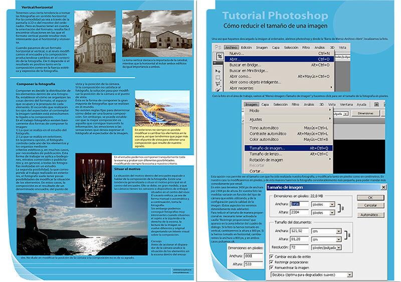 Diseño maquetacion emeye revista curso fotografia