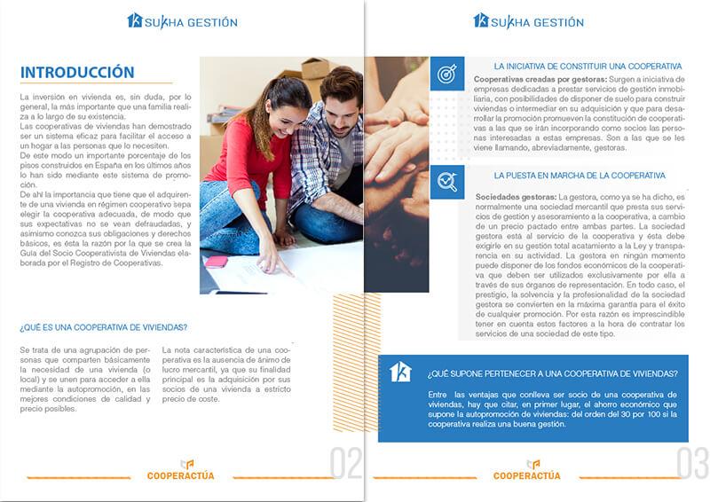 Diseño y maquetación guía del socio sukha gestión