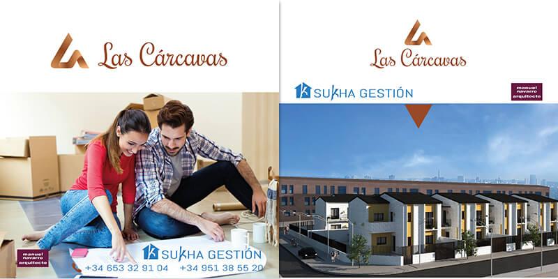Maquetación de catálogo promocional inmobiliaria Las CarcavasMesa de trabajo 1