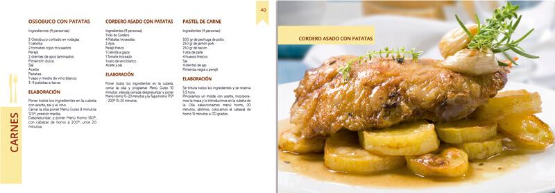 Maquetación y diseño emeye recetario de cocina tapa horno carnes