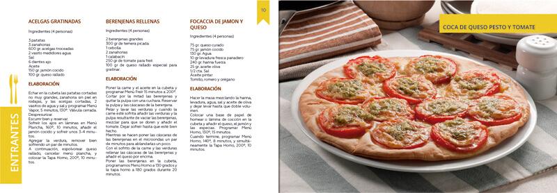 Maquetación y diseño emeye recetario de cocina tapa horno catalogos