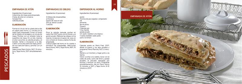 Maquetación y diseño emeye recetario de cocina tapa horno folletos