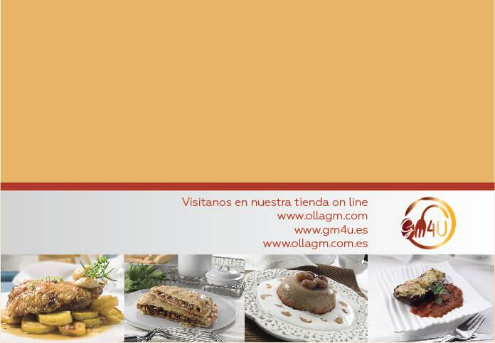 Maquetacion diseño de contraportada libro recetario tapa horno gm4u