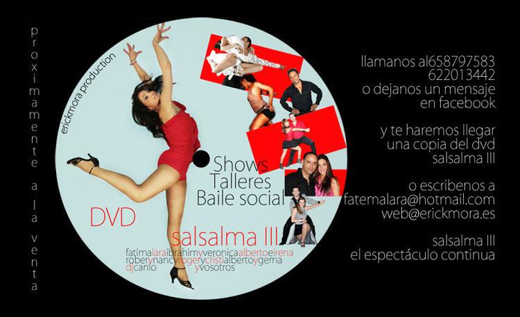 Maquetacion diseño de portada emeye Salsalma DVD