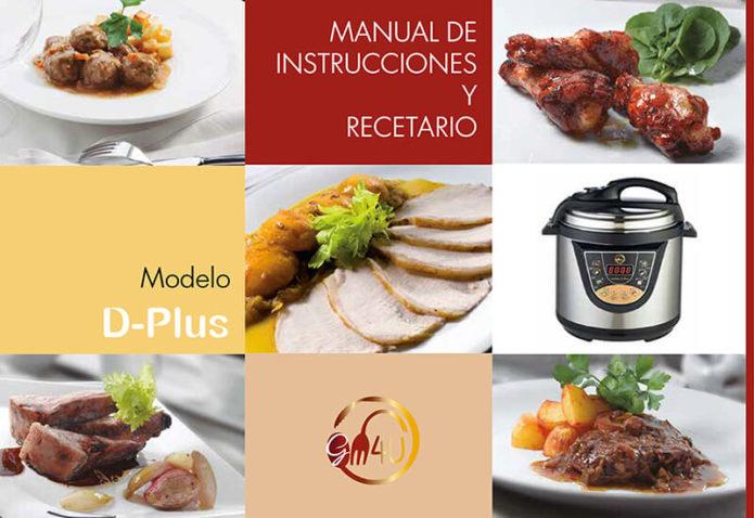 Maquetacion diseño de portada emeye libro recetario cocina D-plus