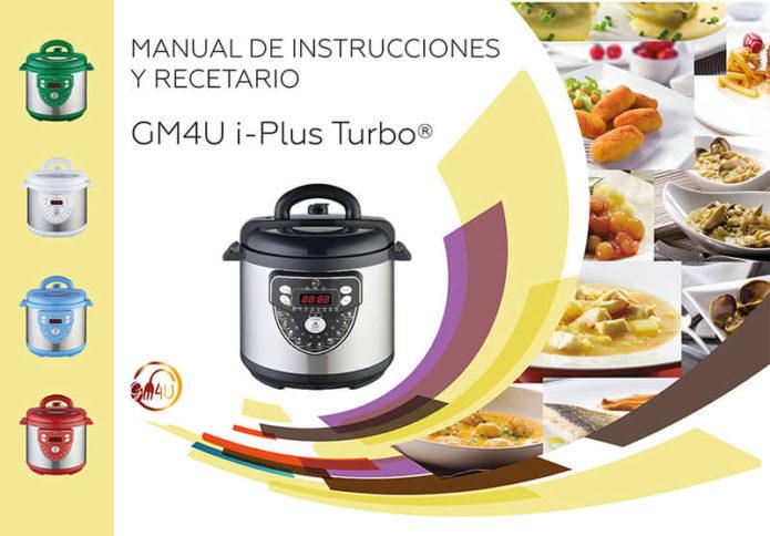 Maquetacion diseño de portada libro recetario cocina gm4u i-plus turbo