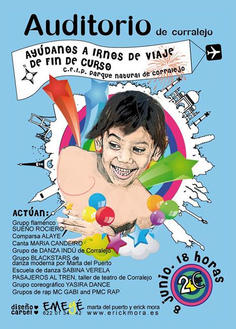 Diseño Gráfico de carteles para Auditorio de Corralejo por Emeyé