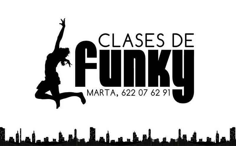 Diseño Gráfico de carteles para Clases de Funky por Emeyé