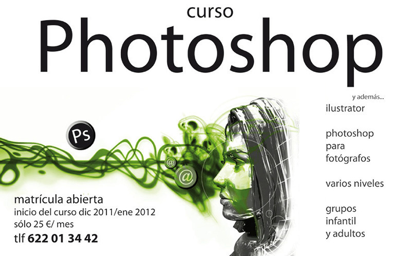 Diseño Gráfico de carteles para Curso de Photoshop por Emeyé