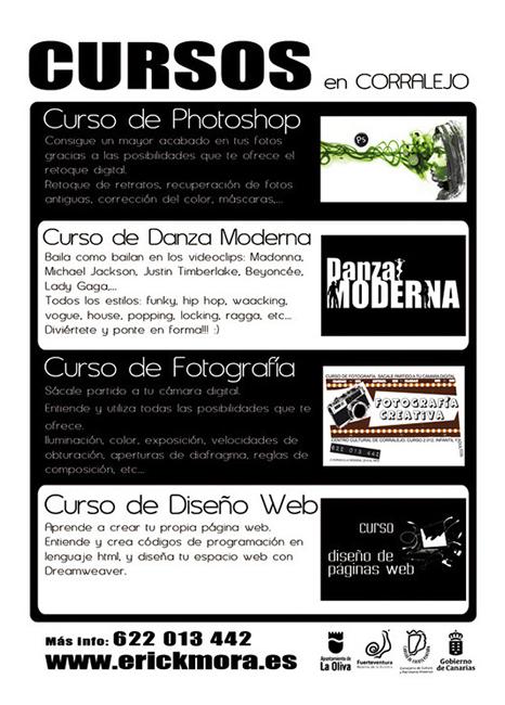 Diseño Gráfico de carteles para Cursos Emeyé