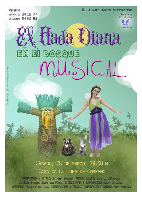 Diseño Gráfico de carteles para El hada Diana por Emeyé