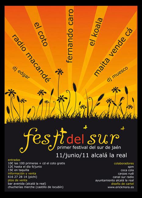 Diseño Gráfico de carteles para Festival Festi del sur por Emeyé