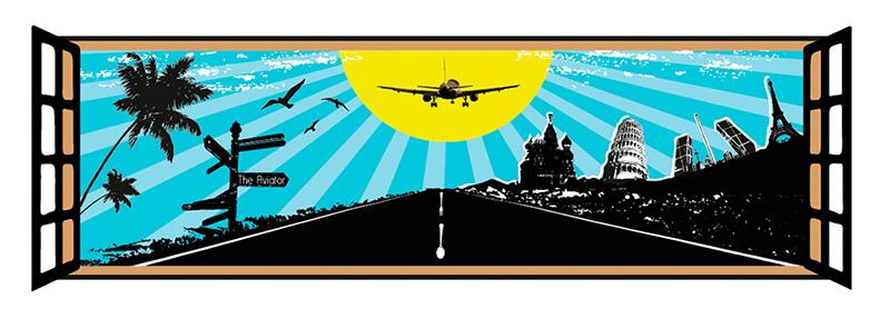Diseño Gráfico de carteles para Restaurante Aviator Madrid por Emeyé