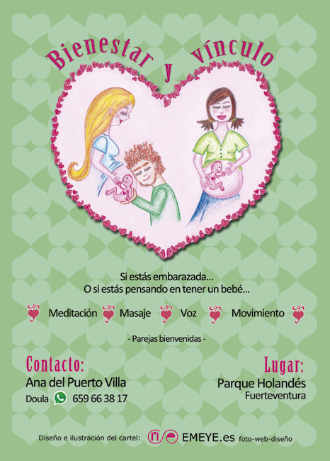 Diseño Gráfico de carteles para Taller de Ana del Puerto por Emeyé