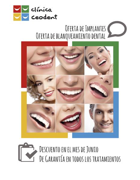 Diseño Gráfico de carteles para clinica dental Ceodent