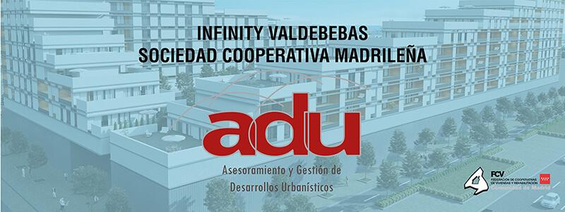 Diseño de Cartel para Adu Valdebebas Infinity SOciedad Cooperativa Madrileña