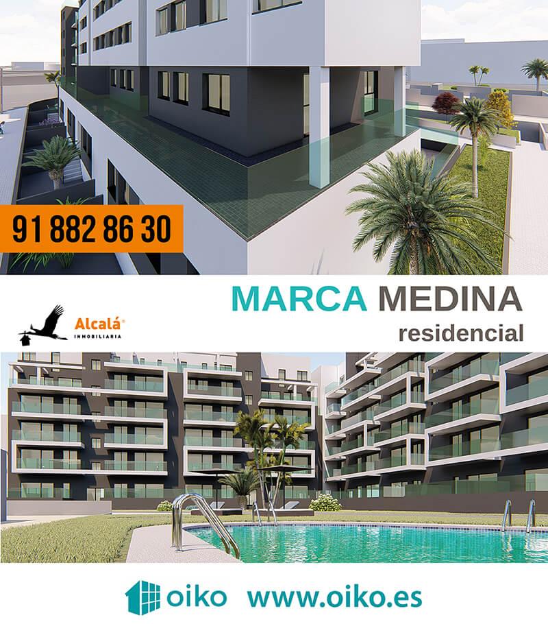 Diseño de Cartel para Caseta Marca Medina residencial