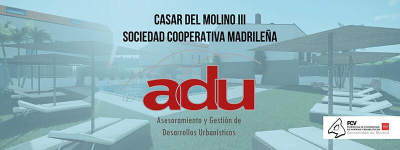 Diseño de cartel para Valla Casar el Molino III Adu