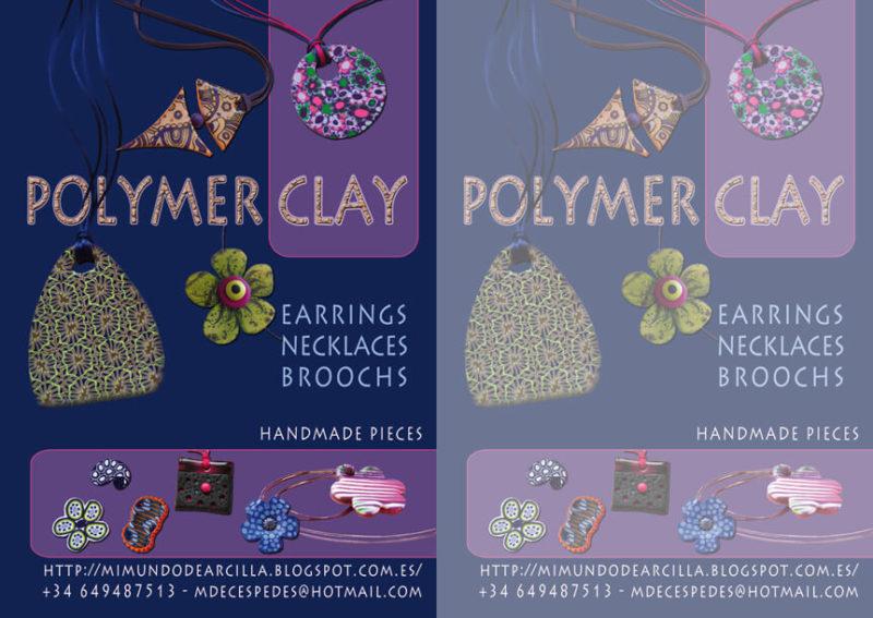 Diseño Gráfico flyer artesania polymer clay