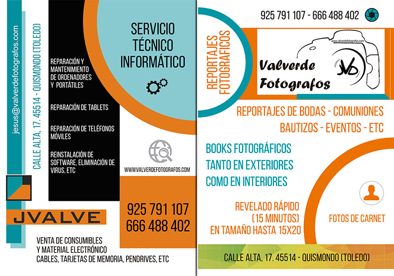 Diseño gráfico Flyer Valverde Fotógrafo emeye
