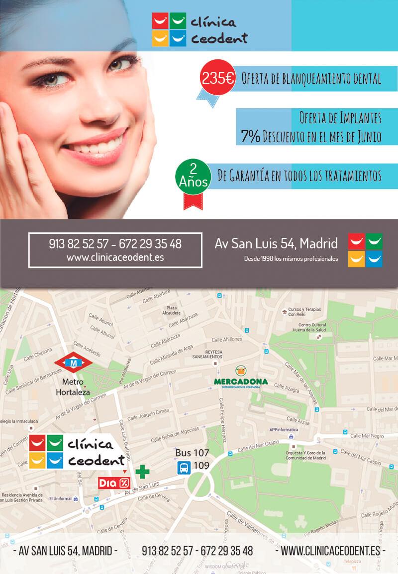Diseño gráfico Flyer emeye para clinica dental Ceodent