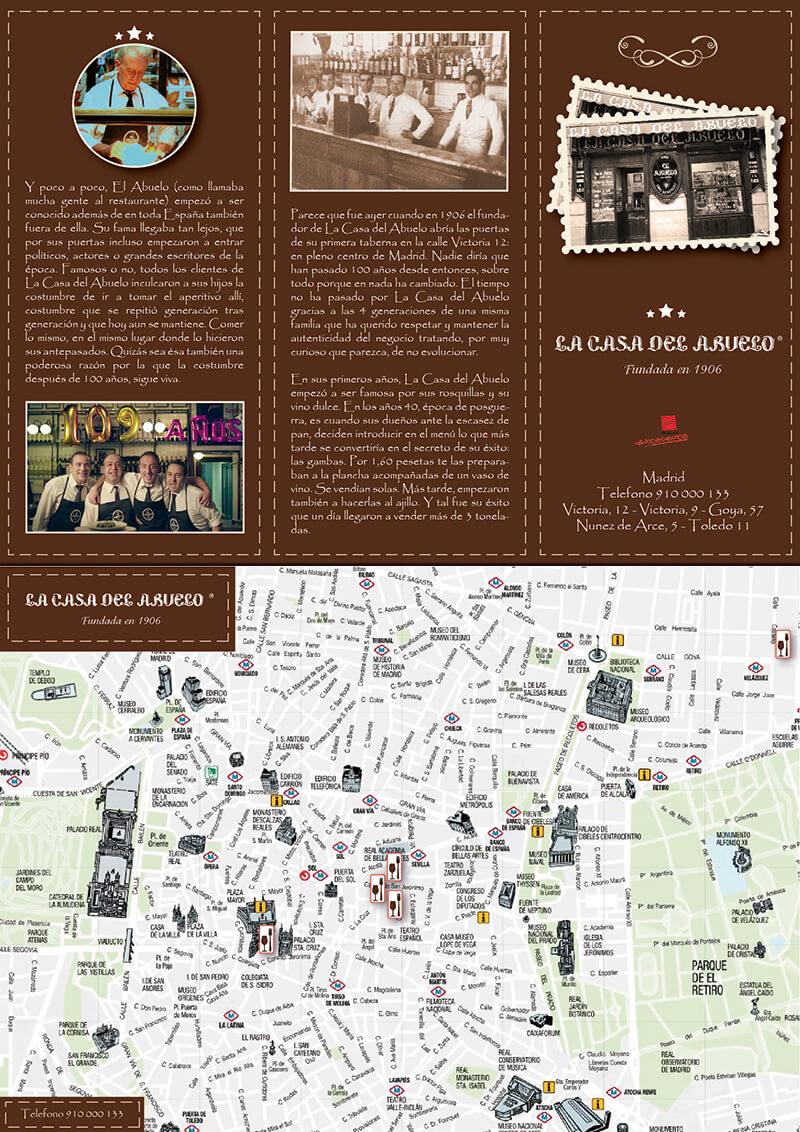Diseño gráfico flyer restaurante la casa del abuelo emeye