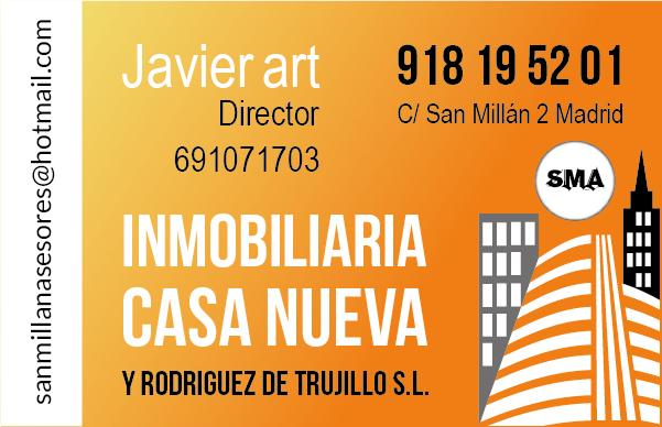 Diseño Tarjeta de visita Inmobiliaria Casa Nueva