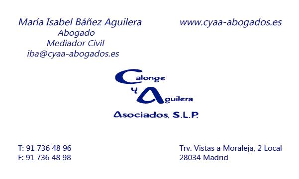 Diseño Tarjeta visita Calongue y Aguilera emeye