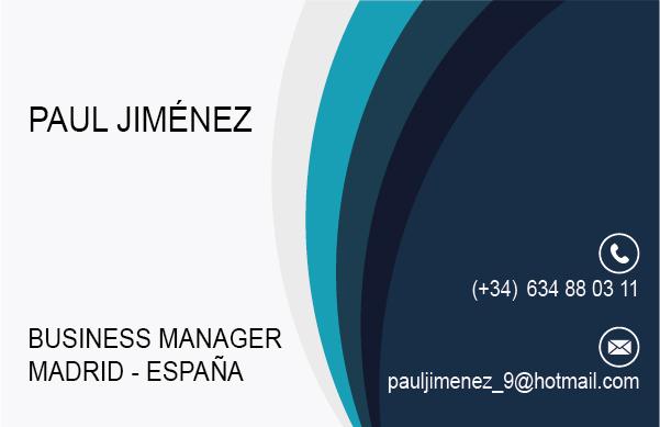 Diseño Tarjeta visita business manager emeye