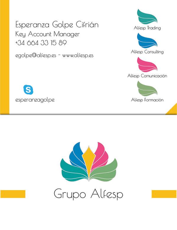 Diseño de Tarjeta de visita para Alfesp