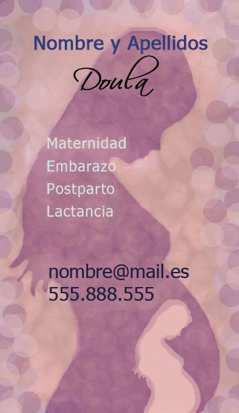 Diseño tarjeta visita doulas emeye