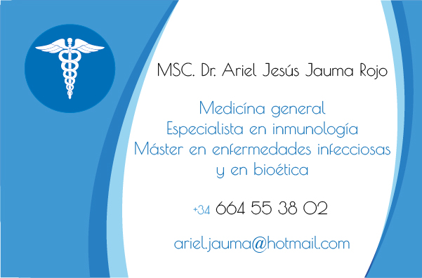 Diseño tarjeta visita emeye Ariel Médico