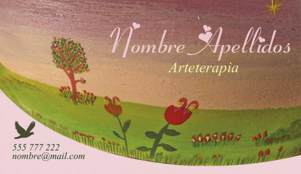 Diseño tarjeta visita emeye artesanía