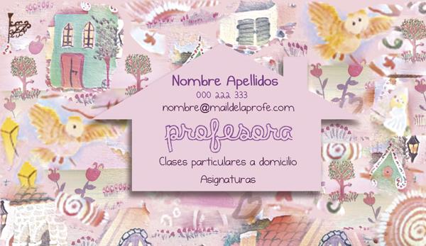 Diseño tarjeta visita emeye artesana
