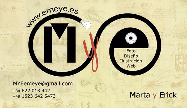 Diseño tarjeta visita emeye artistas