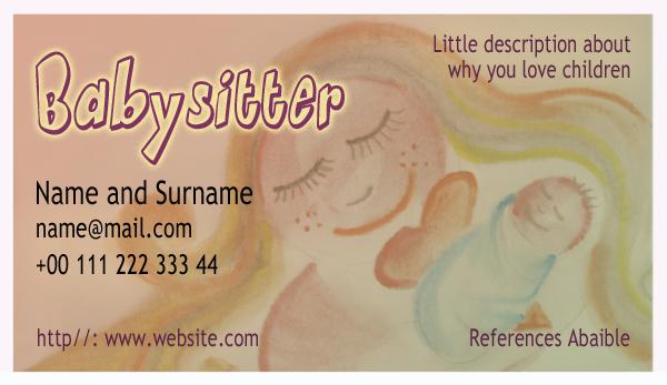 Diseño tarjeta visita emeye baby sitter