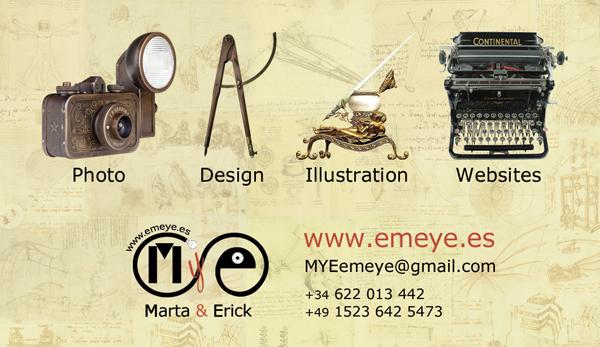 Diseño tarjeta visita emeye creacion