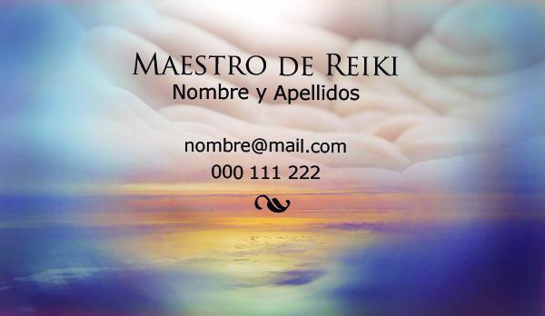Diseño tarjeta visita emeye maestro de reiki