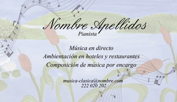 Diseño tarjeta visita emeye pianista